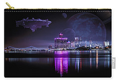 Carry-all Pouch featuring the photograph Detroit Worlds by Nicholas  Grunas