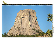 Carry-all Pouch featuring the photograph Devils Tower by John M Bailey
