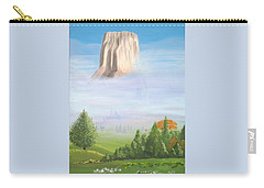 Carry-all Pouch featuring the painting Devil's Tower  by Phyllis Kaltenbach