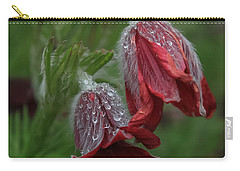 Dew Covered Pasque Flower Carry-all Pouch