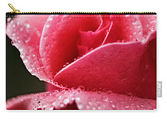 Dew Drops On Pink Carry-all Pouch