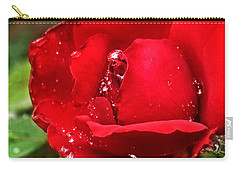 Dew Drops On Red Carry-all Pouch