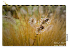 Carry-all Pouch featuring the photograph Dew On Ornamental Grass No. 4 by Belinda Greb