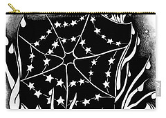 Carry-all Pouch featuring the digital art Dewdrop Stars by Carol Jacobs