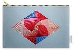 Carry-all Pouch featuring the mixed media Diamond Design by Ron Davidson