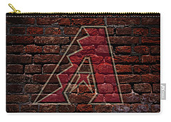 Diamondbacks Baseball Graffiti On Brick  Carry-all Pouch
