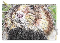 Golden Hamster Drawings Carry-All Pouches