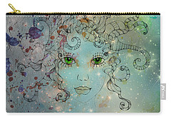 Carry-all Pouch featuring the digital art Different Being by Barbara Orenya