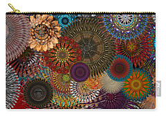 Digital Flowers 001 Carry-all Pouch by Stuart Turnbull