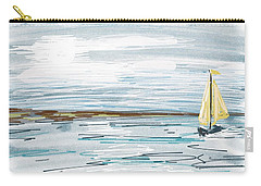 Digital Seascape In Blue Carry-all Pouch