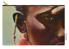Carry-all Pouch featuring the painting Dignity by Sher Nasser