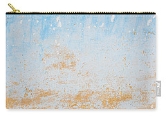 Dilapidated Beige And Blue Wall Texture Carry-all Pouch