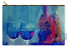 Carry-all Pouch featuring the painting Dine With Wine by Lisa Kaiser