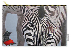 Carry-all Pouch featuring the painting Dinner Guests by Karen Ilari