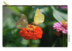 Carry-all Pouch featuring the photograph Dinner Table For Two Butterflies by Thomas Woolworth