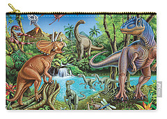 Dinosaur Waterfall Carry-all Pouch by Mark Gregory