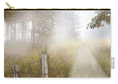 Dirt Road In Fog Carry-all Pouch