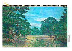 Carry-all Pouch featuring the painting Dirt Road Near Rock Castle Gorge by Kendall Kessler