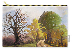 Carry-all Pouch featuring the painting Dirt Road To Some Place by Anthony Mwangi