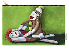 Sock Monkey Carry-all Pouches