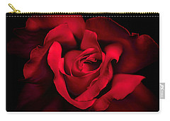Carry-all Pouch featuring the photograph Haunting Red Rose Flower by Jennie Marie Schell