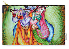 Carry-all Pouch featuring the painting Divine Lovers by Harsh Malik