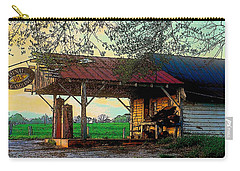 Carry-all Pouch featuring the photograph Dixie Oil And Gasoline by Rodney Lee Williams