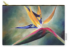Carry-all Pouch featuring the painting Dj's Flower by Lori Brackett
