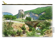 Carry-all Pouch featuring the photograph Do-00403 Mussaylaha Fort  by Digital Oil
