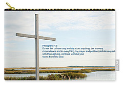 Belin Church Cross At Murrells Inlet With Bible Verse Carry-all Pouch
