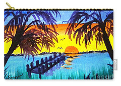 Dock At Sunset Carry-all Pouch
