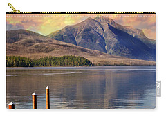 Carry-all Pouch featuring the photograph Dock On Lake Mcdonald by Marty Koch