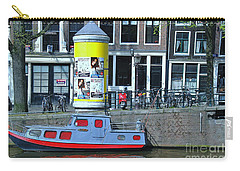 Carry-all Pouch featuring the photograph Docked In Amsterdam by Allen Beatty