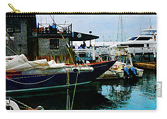 Carry-all Pouch featuring the photograph Docked Boats In Newport Ri by Susan Savad