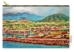 Carry-all Pouch featuring the mixed media Docked In St. Kitts by Deborah Boyd