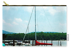 Carry-all Pouch featuring the photograph Docked On The Hudson River by Susan Savad