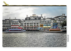 Docking At The Boardwalk Walt Disney World Carry-all Pouch by Thomas Woolworth