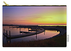 Docks At Sunrise Carry-all Pouch by Jonah  Anderson