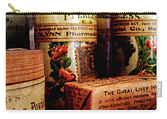 Carry-all Pouch featuring the photograph Doctor - Liver Pills In General Store by Susan Savad