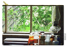 Carry-all Pouch featuring the photograph Doctor - Medicine And Hurricane Lamp by Susan Savad