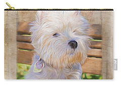 Dog Art - Just One Look Carry-all Pouch by Jordan Blackstone