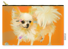 Dog Chihuahua Orange Carry-all Pouch