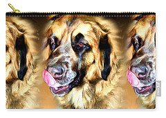 Carry-all Pouch featuring the digital art Dog by Daniel Janda