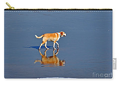 Dog On Water Mirror Carry-all Pouch by Susan Wiedmann