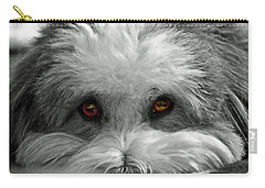Carry-all Pouch featuring the photograph Coton Eyes by Keith Armstrong