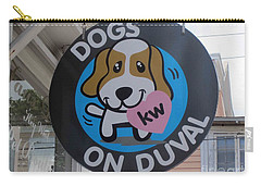 Dogs On Duval Carry-all Pouch by Fiona Kennard