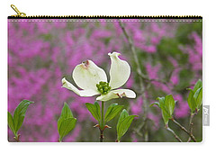 Dogwood Bloom Against A Redbud Carry-all Pouch