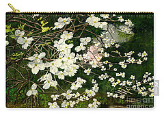 Carry-all Pouch featuring the painting Dogwoods Virginia by Melly Terpening