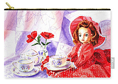 Doll At The Tea Party  Carry-all Pouch