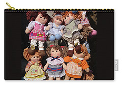 Carry-all Pouch featuring the photograph Dolls by Marcia Socolik
